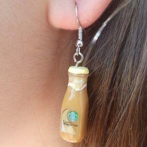 🍭3/$15 Handmade Starbucks Vanilla Frap Earrings